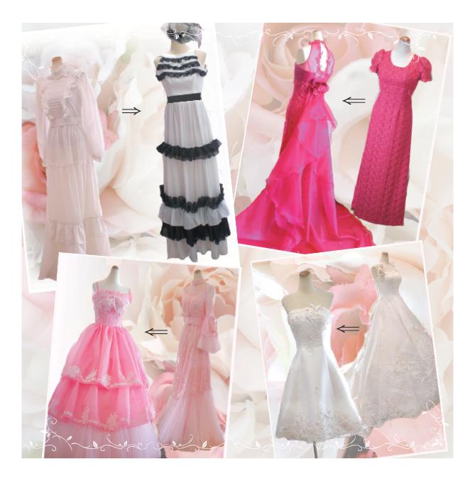 ウェディングドレスやカラードレスをリメイクします。