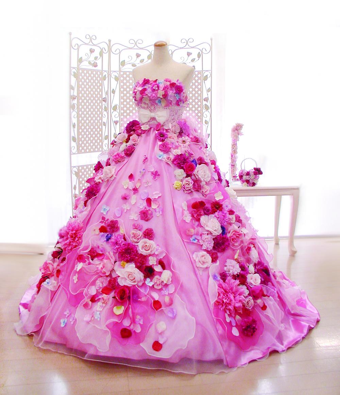 可愛くて人気No.1のお花ドレス、