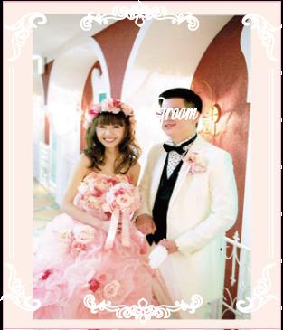 ピンクのお花ドレス