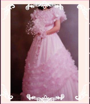 ピンクのお母さまのドレス