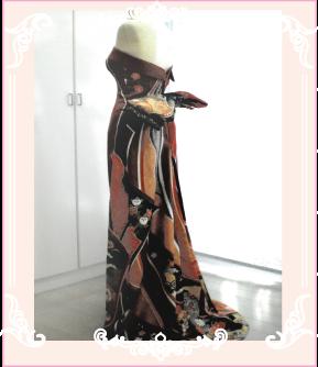 和ドレス(着物ドレス)のリメイク例