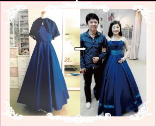 ブルーのドレスをリメイクした実例