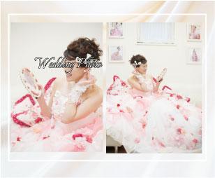 お花のドレスで可愛い結婚写真を残しました