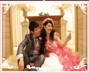 ピンクのお花のオーバードレス