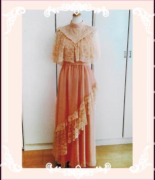 お母さまのドレスを個性的なデザインへリメイクしました