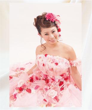 お花のドレスで結婚写真(フォトプラン)