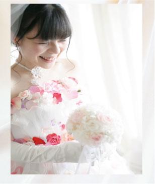自然な表情の結婚写真(フォトプラン)