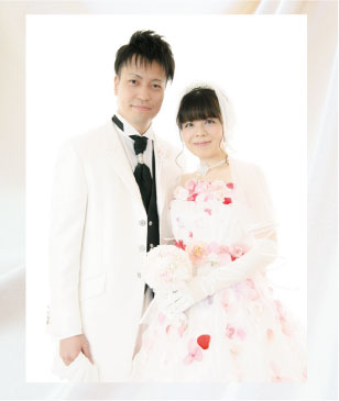 お花ドレスのウェディングフォトプラン(結婚写真)