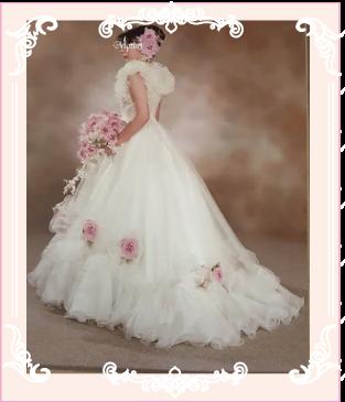 ドレスリメイク前のお母さまのウェディングドレス