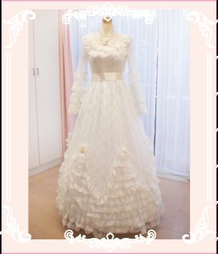 お母様のウェディングドレスのリメイク例