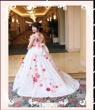 お花のドレスへリメイク