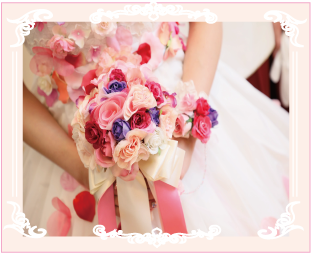 お花ドレスやブーケ