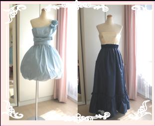 ドレスのリメイクリフォーム実例