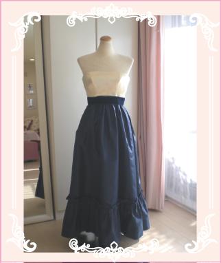 ビスチェデザインのカラードレスへリメイク