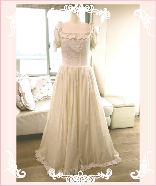 ご結婚式で着られたウェディングドレス