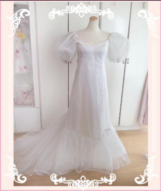 ウェディングドレスのリメイク例