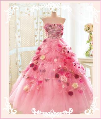 お花たくさんのドレスへとリメイク